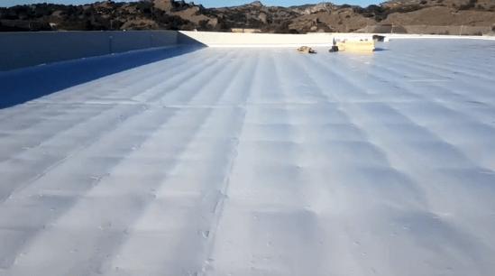 Día de viento con láminas de 2m de ancho